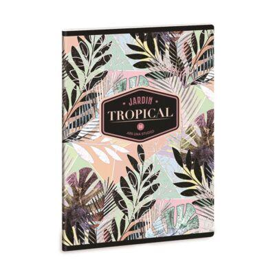 Füzet ARS UNA A/5 40 lapos Extra kapcsos vonalas Tropical Leaf