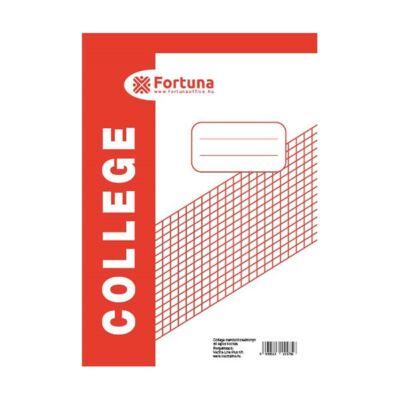 Jegyzettömb spirálos FORTUNA College A/5 50 lapos kockás