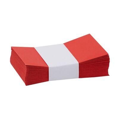 Névjegyboríték színes KASKAD enyvezett 70x105mm 29 vörös 50 db/csomag