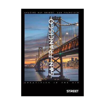 Füzet STREET Bridges A/4 50 lapos sima