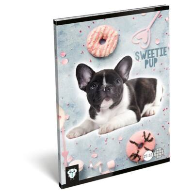 Füzet LIZZY CARD A/5 32 lapos kockás 27-32 Sweetie pup