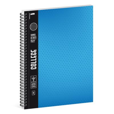 Spirálfüzet ARS UNA College A/4 80 lapos négyzethálós kék