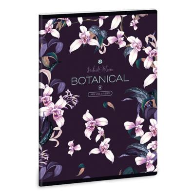 Füzet ARS UNA A/5 40 lapos Extra kapcsos sima Botanic Orchid